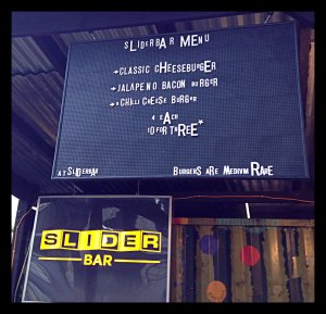 Slider bar sign