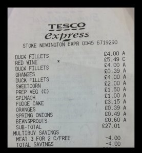 Tesco receipt