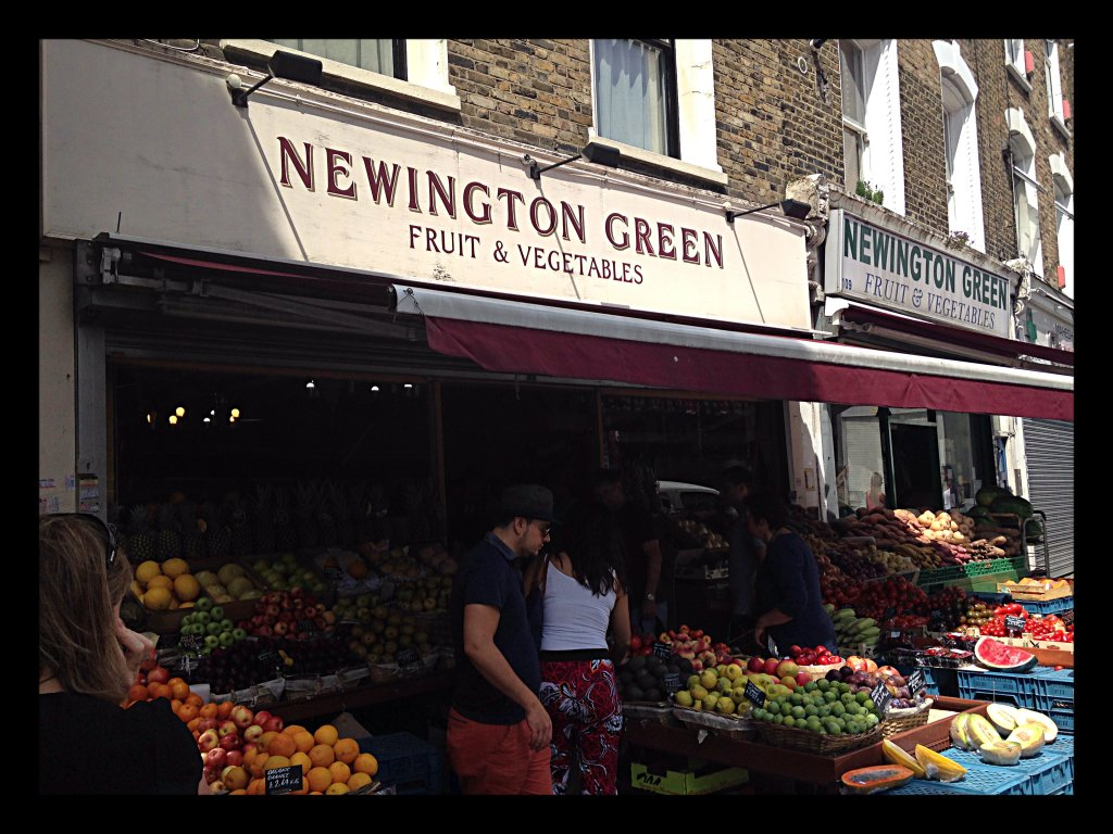 Newington Green Fruit & Veg. shop front