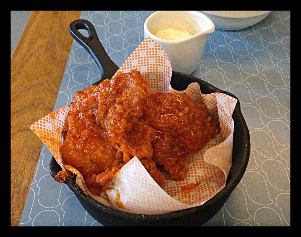 Fried Chicken with a Buffalo Glaze