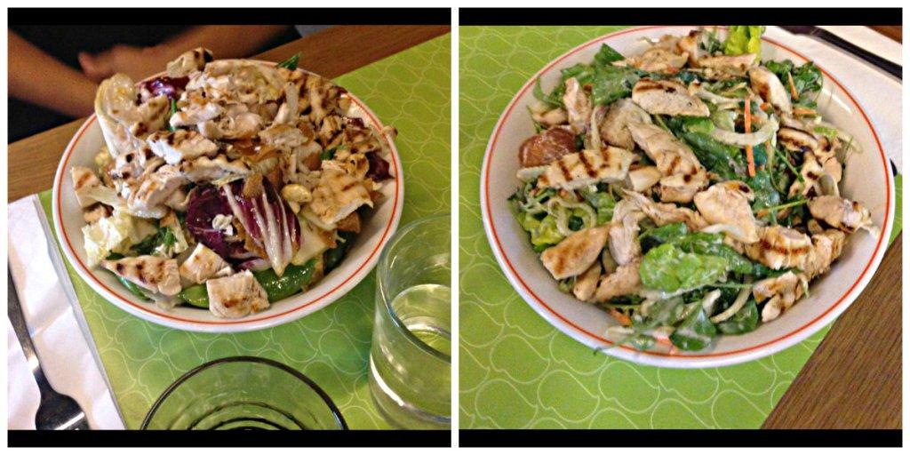 Big Green Salad & Asian Chopped Salad