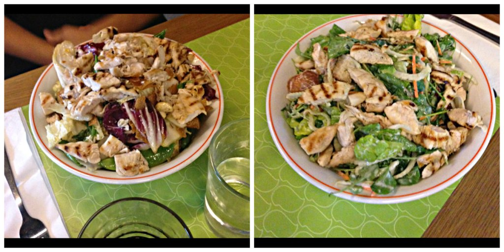 Big Green Salad & Asian Chopped Salad