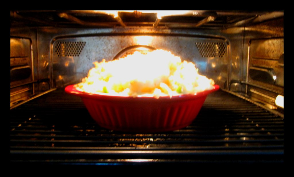 Cauli in the oven