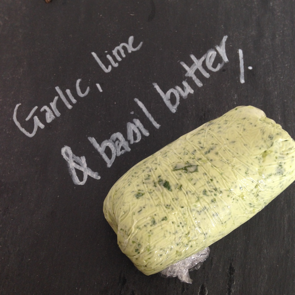 Garlic, lime and basil butter