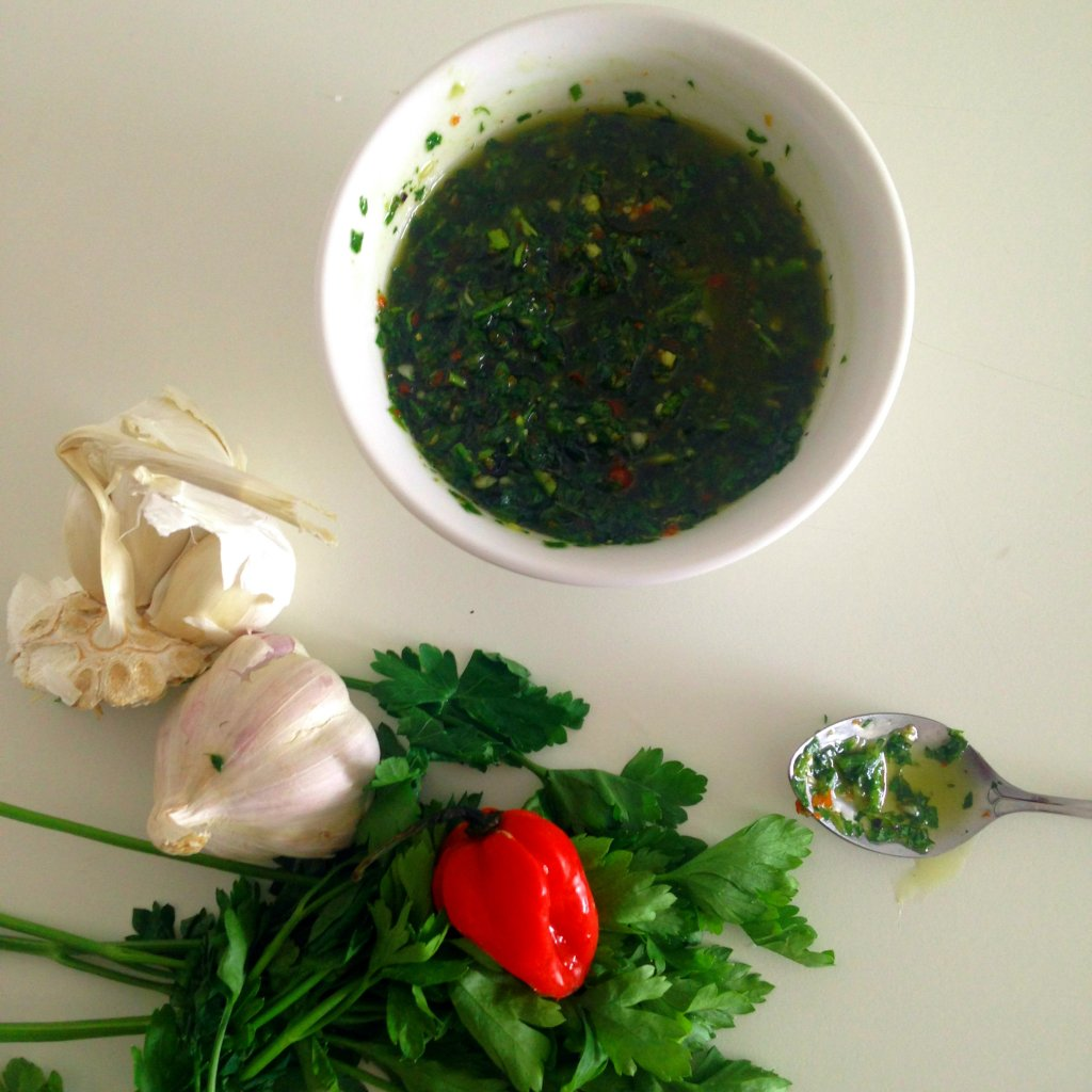 Parsley, garlic and scotch bonnet oil 3