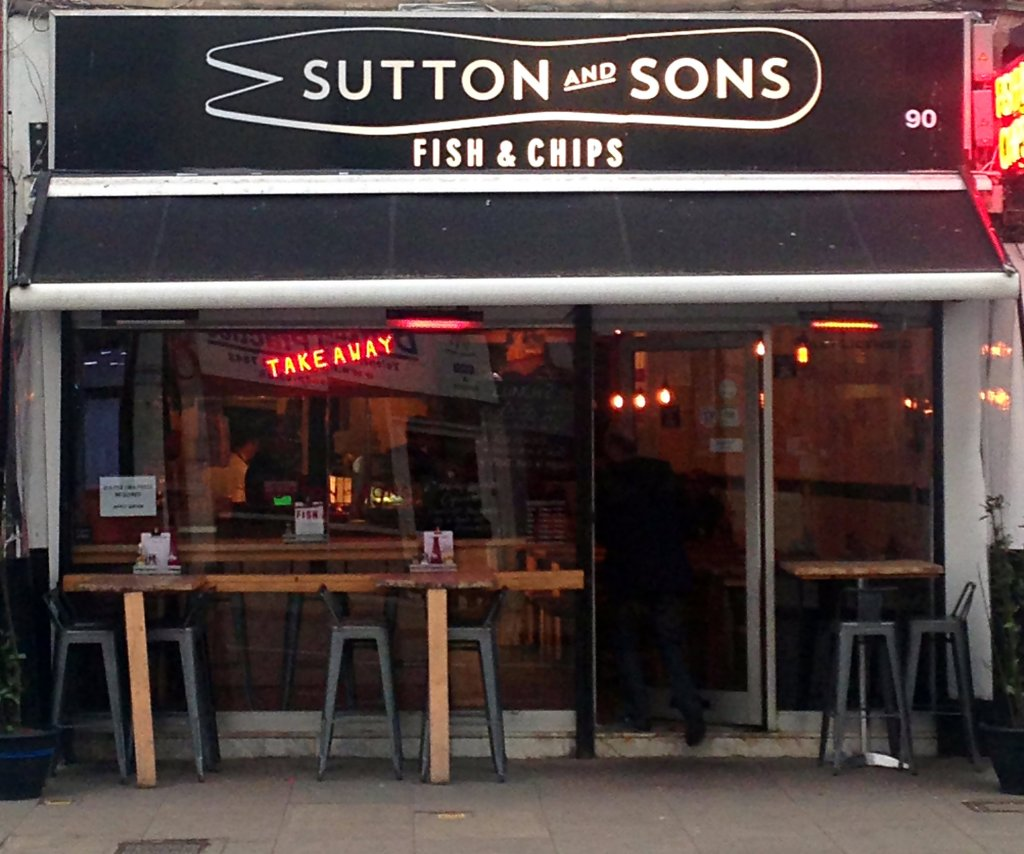 Sutton and Sons Fish and Chip Shop Front